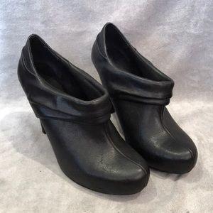 Black Coned Heel Booties
